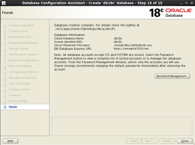 Oracle Database 18c: Installation, DB Creation, OEM Configuration
