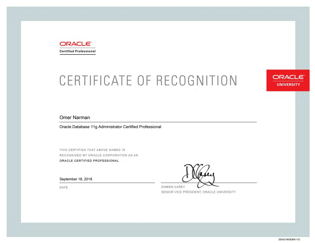 Certifications Omer Narmans Oracle Blog